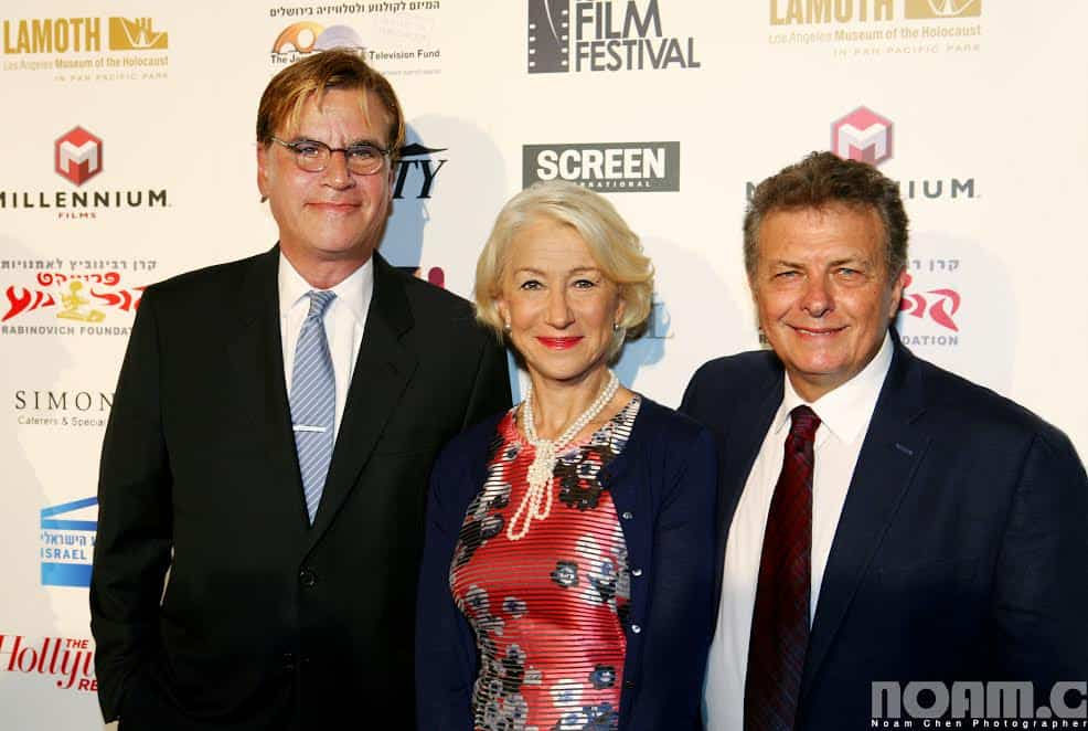 R Meir Fenigstein IFF Founder Executive Directo Helen Mirren Recipient of 2015 IFF Career Achievement Award Aaron Sorkin 2015 IFF Achievment in Film and Television Award