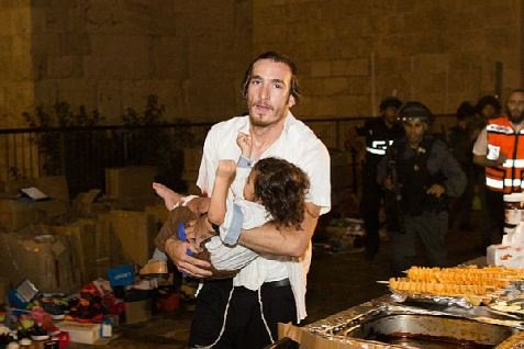 injured toddler after jerusalem stabbings