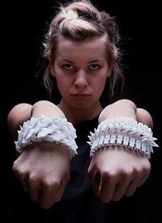 Nitzans spiked bracelets