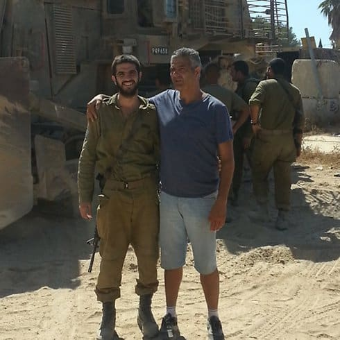 Adiel Levy and father Uzi before injury