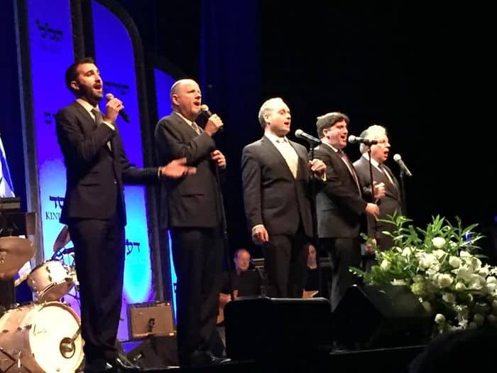 Five tenors from 5 major synagogues singing Prayer for Israel.