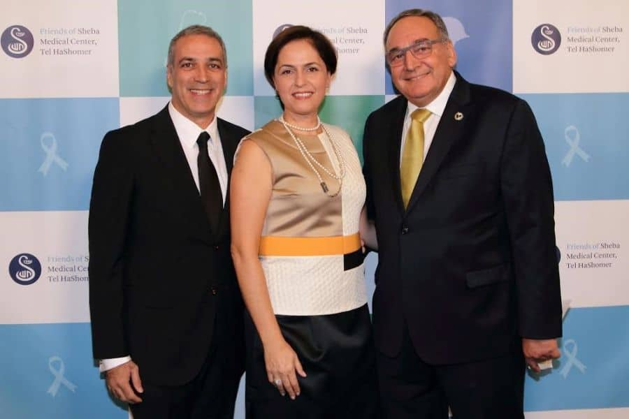 L Friends of Sheba President Parham Zar wife and board member Shoshana Zar and honoree Professor Zeev Rotstein Director General and CEO of Sheba Medical Center