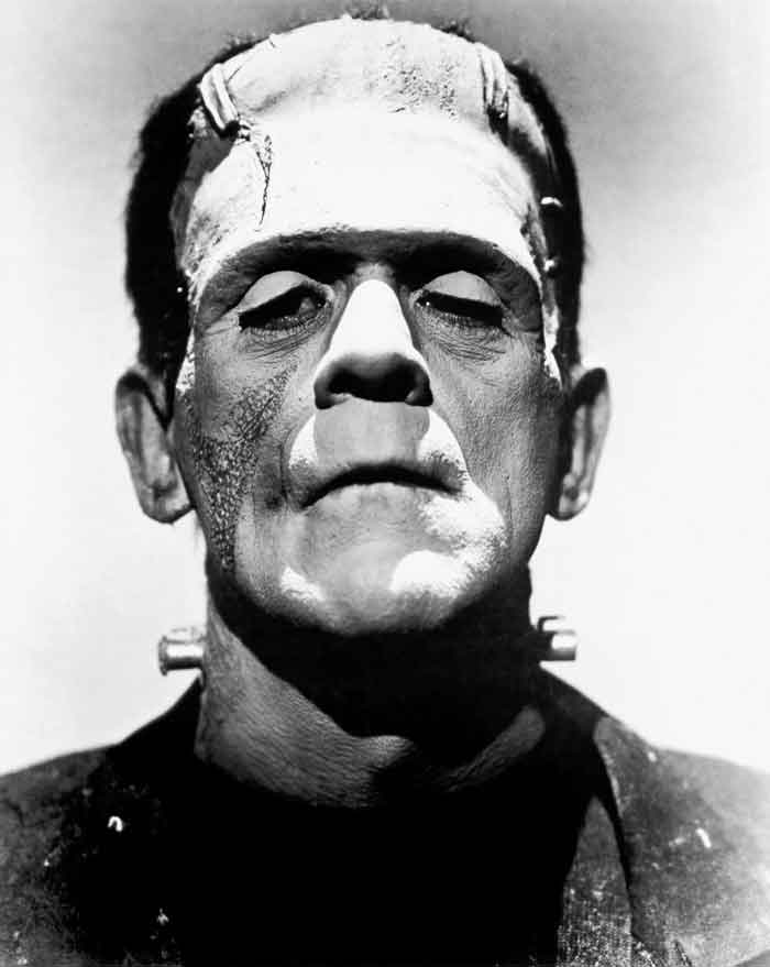 Boris Karloff as Frankenstein.
