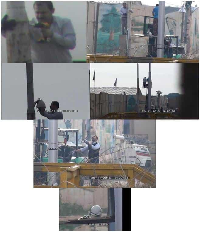 Photos: installing new reconnaissance cameras around Camp Liberty.