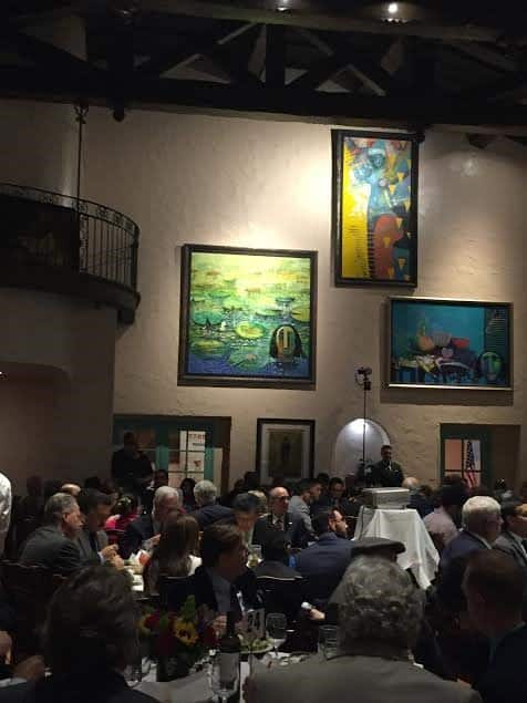 the guests at Tamayo restaurant and art gallery.