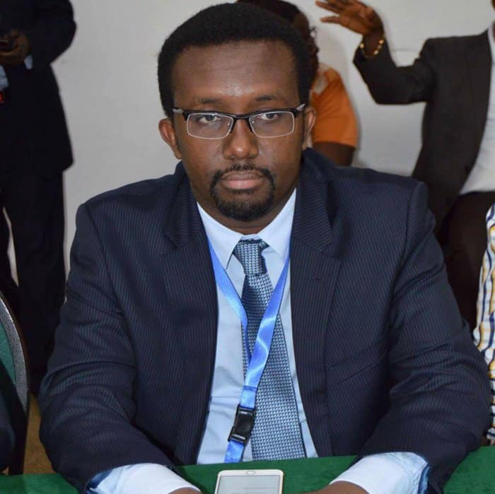 Omar Faruk Osman Secretary General of the National Union of Somali Journalists