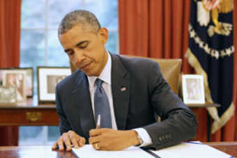 Obama signs the bill into law.