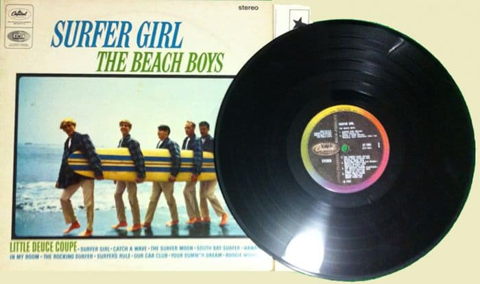 33rpm beach boys vinyl record