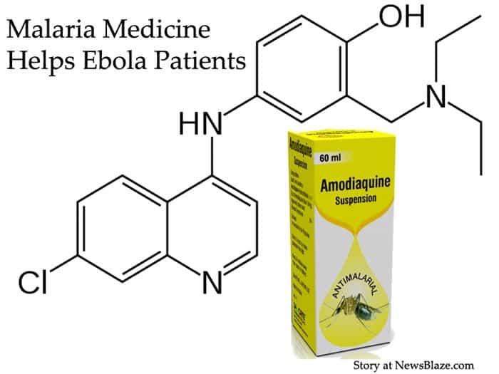 malaria medicine helps ebola patients