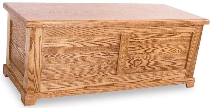 oak hope chest