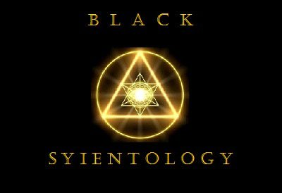 BlackSyientology logo.