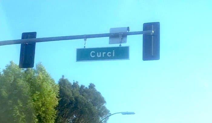 curci street sign