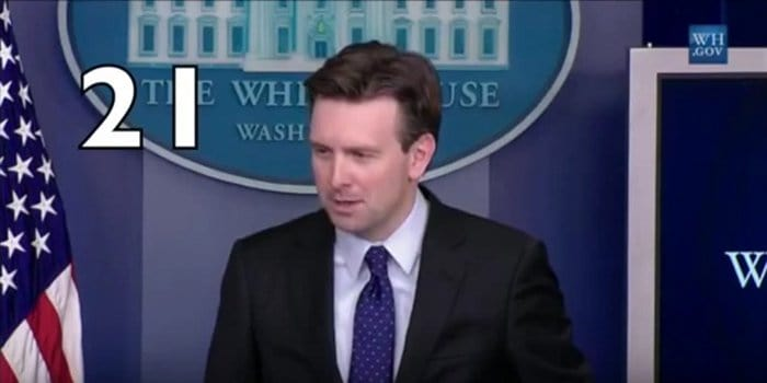 josh earnest describes clinton personal emails