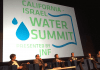 A Water Summit speaker panels.