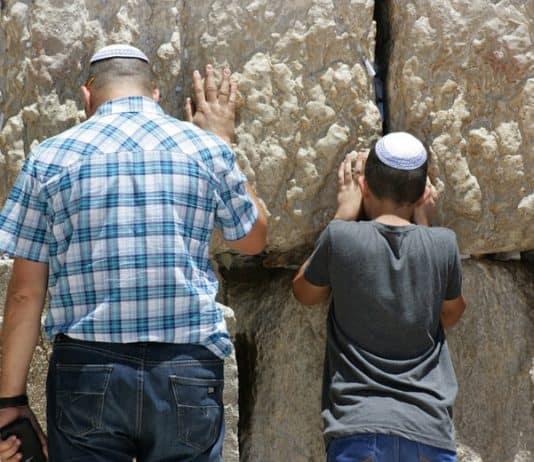 Israelis at the wailing wall.