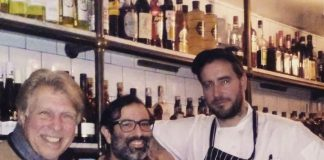 Pete Allman with Eric and Chef Ralph Johnson at Pikey Cafe and Bar.