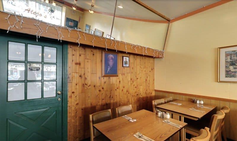 Inside Alejo's restaurant.