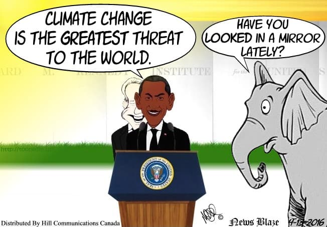 Is Climate change greatest threat or politicians cartoon.
