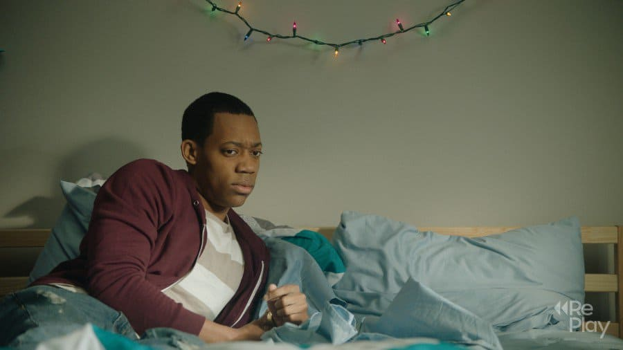 Tyler James Williams in a scene from RePlay.