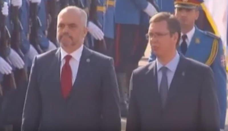Albanian and Serbian Leaders.