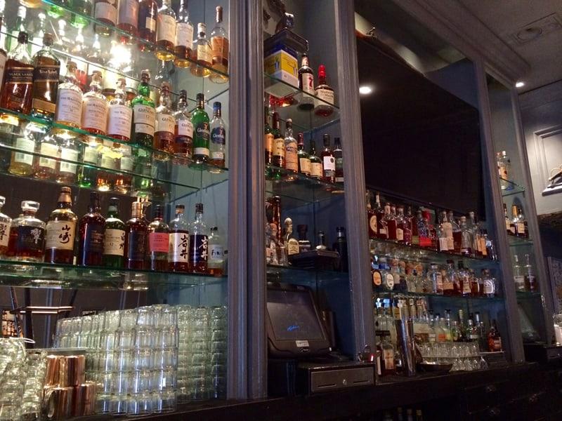 the arsenal liquor display.
