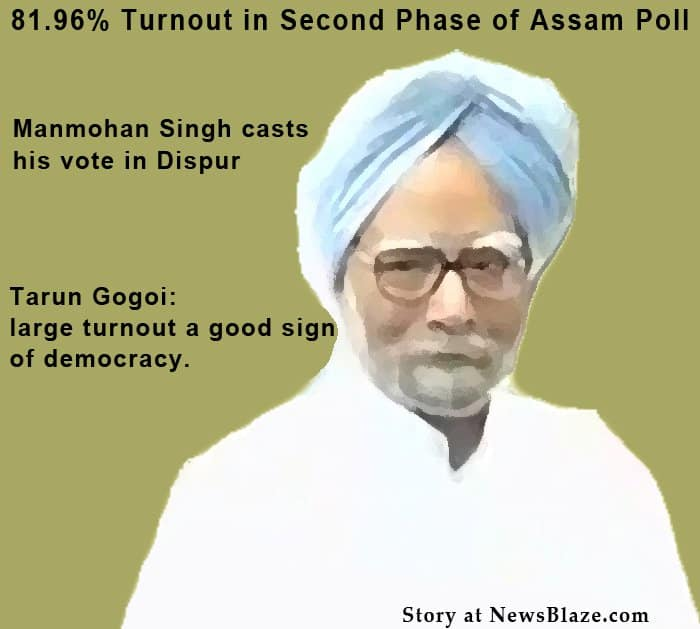 High turnout in Assam poll.