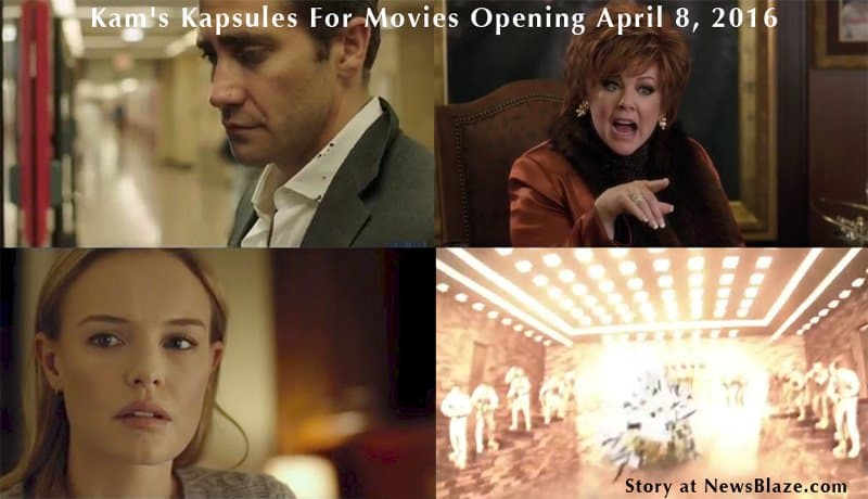 Kam's Kapsules For Movies Opening April 8, 2016.