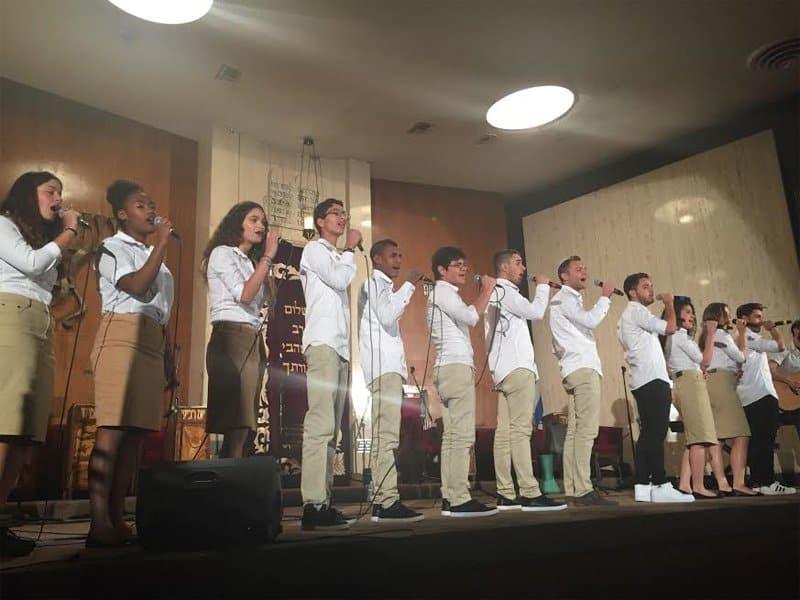 Members of Yemin Order Youth Choir perform