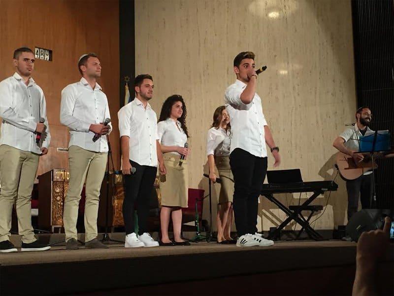 Members of Yemin Order Youth Choir sing