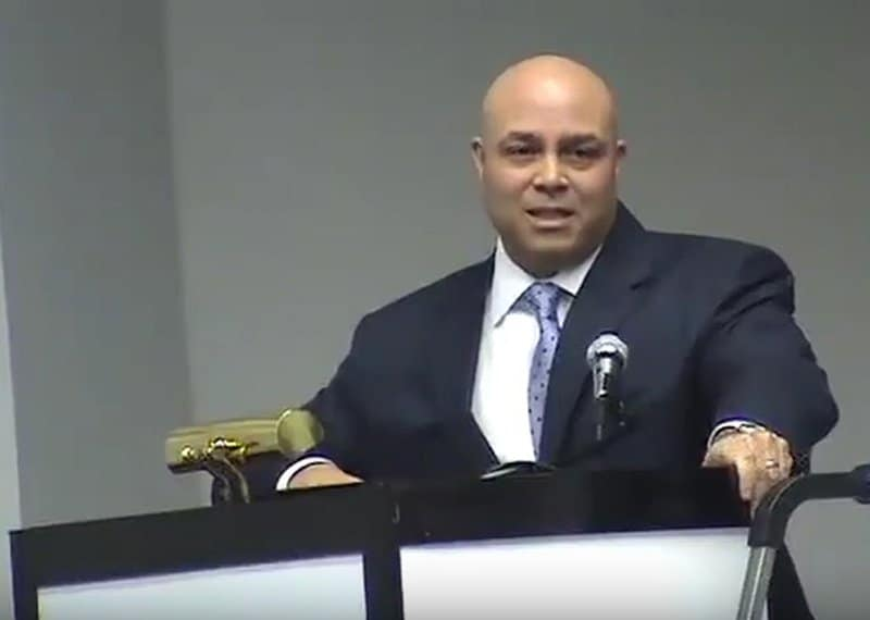 Michael K. Powell making a Keynote Presentation
