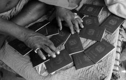 Pakistani Hindu Refugee Man With Pakistan Passports. Photo by Shib Shankar Chatterjee.