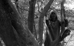 Pakistani Hindu Refugee Woman Near Trees. Photo by Shib Shankar Chatterjee.