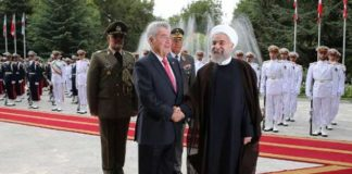 rouhani and austrian president in iran.