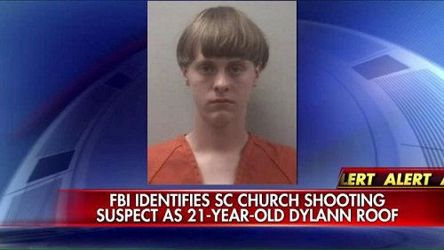 South Carolina church shooting suspect.
