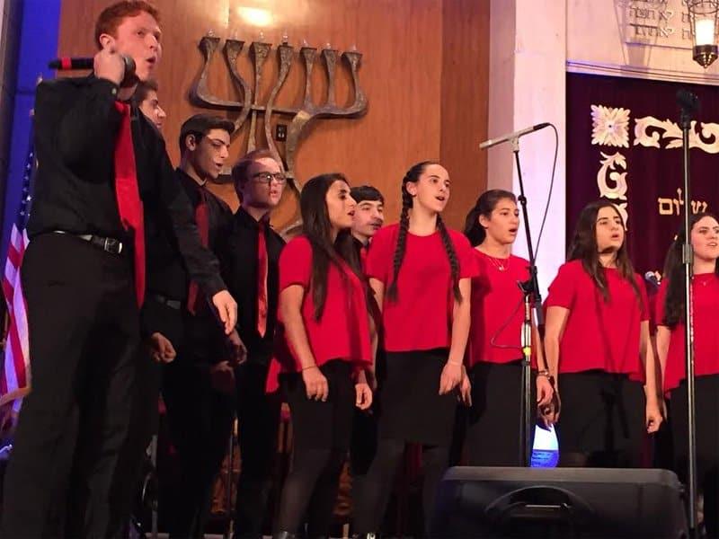 Shalhevet Choir sing