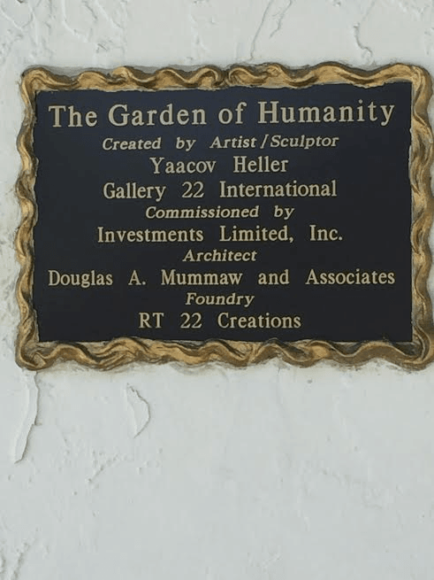 The Garden of Humanity plaque. Photo by Nurit Greenger.