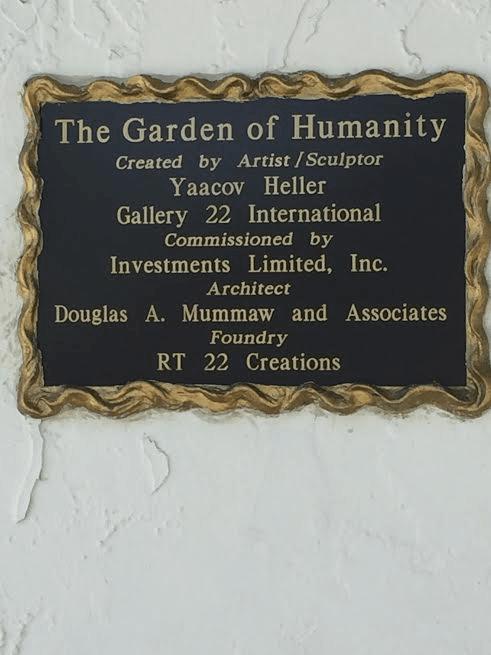 The Garden of Humanity plaque