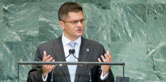 Vuk Jeremic speaking at the UN.
