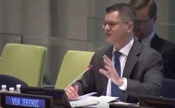 Vuk Jeremic speaking at UN