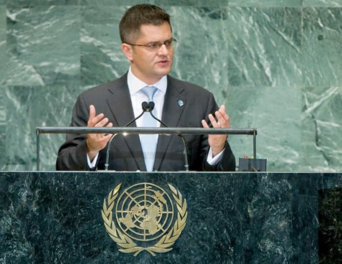 Vuk Jeremic speaking at the UN.