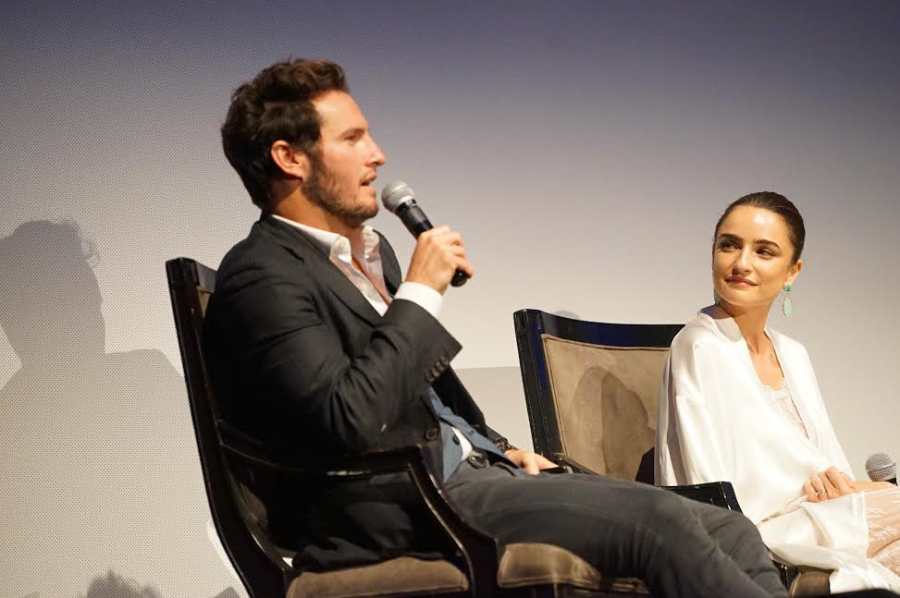 LAJFF-Two of the series' Kfulim actors, Ania Bukstein [R] & Angel Bonanni attending Q & A