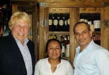 Pete Allman, Silvia Lopez and Said Faraj at Kand D restaurant.