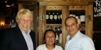 Pete Allman, Silvia Lopez and Said Faraj at Kand D restaurant.