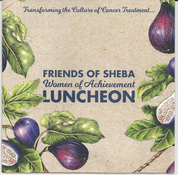 Friends of Sheba Luncheon invitation
