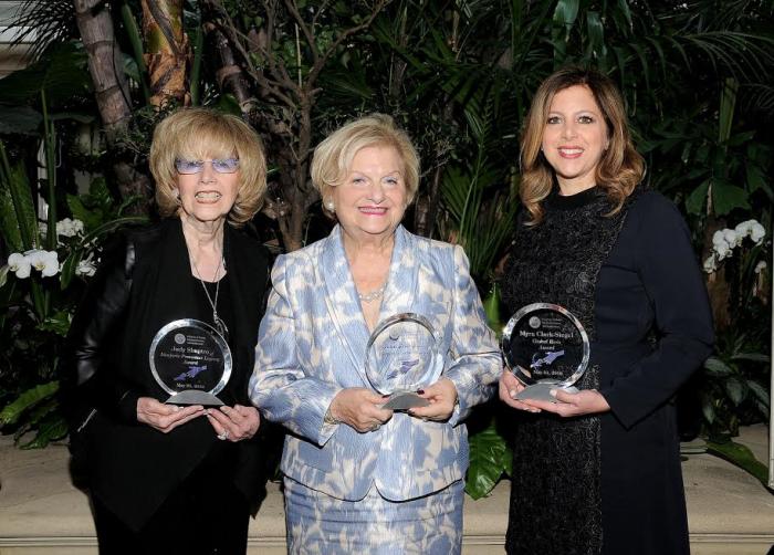Sheba-R-Myra Clark-Siegel recipient of Global Hero Award, Jean Friedman recipient of Women of Achievement Award, Judy Shapiro, recipient of Marjorie Pressman Legacy Award-photo Friends of Sheba