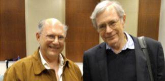 Eric Foner (R) and Steven Blumrosen After the Final Lecture.