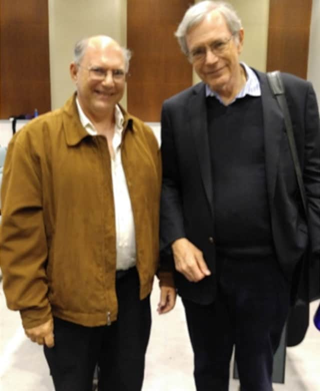 Eric Foner (R) and Steven Blumrosen After the Final Lecture.