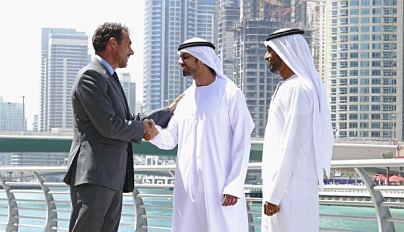 business deal handshake.