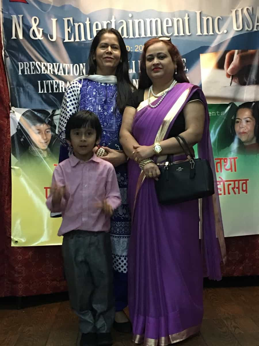 Kabin Bikram Shah with Kamala Prasai and Ms. Mili Shrestha