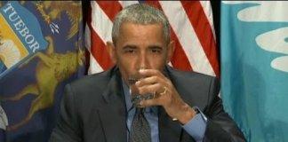 Obama Flint water drink